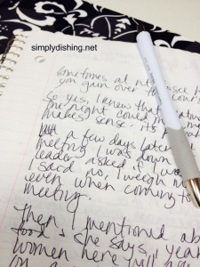 My worn, spilled on, imperfect notebook.